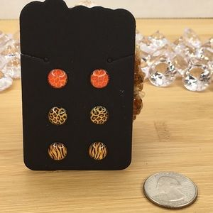 Jewelry - 3 Pairs of Stud Earrings